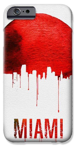 Miami Skyline Red IPhone 6s Case by Naxart Studio