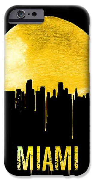 Miami Skyline Yellow IPhone 6s Case by Naxart Studio
