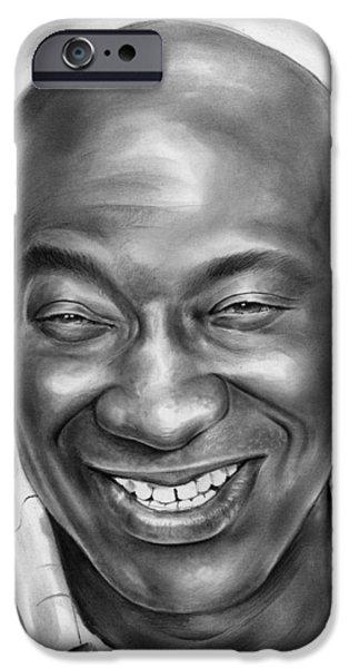 Michael Clarke Duncan IPhone Case by Greg Joens