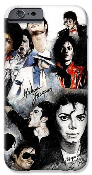 Michael Jackson - King Of Pop IPhone 6s Case by Lin Petershagen