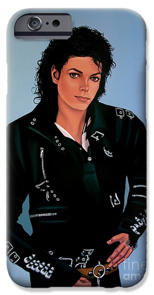 Michael Jackson Bad IPhone Case by Paul Meijering
