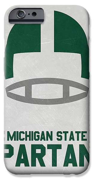 Michigan State Spartans Vintage Art IPhone Case by Joe Hamilton