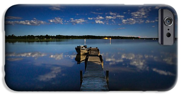 Midnight At Shady Shore On Moose Lake Minnesota IPhone 6s Case by Alex Blondeau