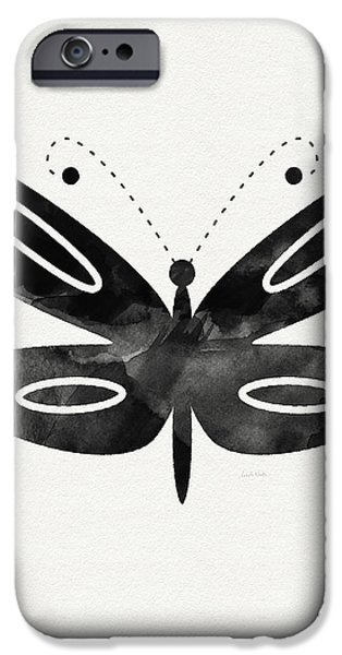 Midnight Butterfly 1- Art By Linda Woods IPhone 6s Case by Linda Woods