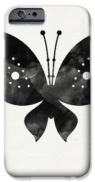 Midnight Butterfly 2- Art By Linda Woods IPhone 6s Case by Linda Woods