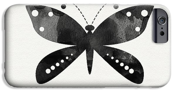 Midnight Butterfly 4- Art By Linda Woods IPhone 6s Case by Linda Woods