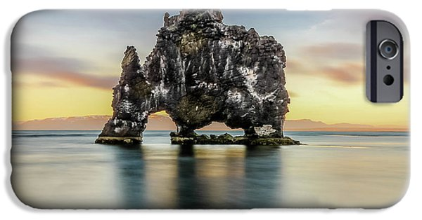 Midnight Sun, Hvitserkur, Iceland # 1 IPhone Case by Tom and Pat Cory