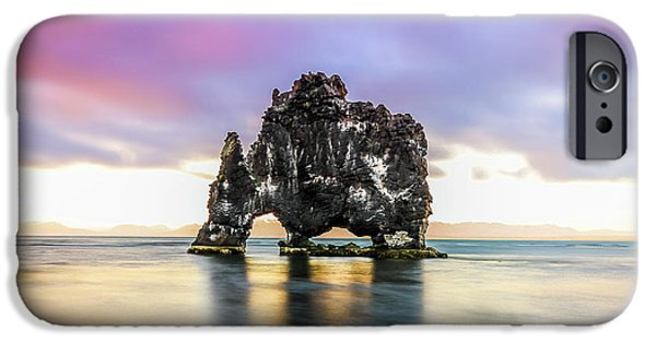 Midnight Sun, Hvitserkur, Iceland # 2 IPhone Case by Tom and Pat Cory