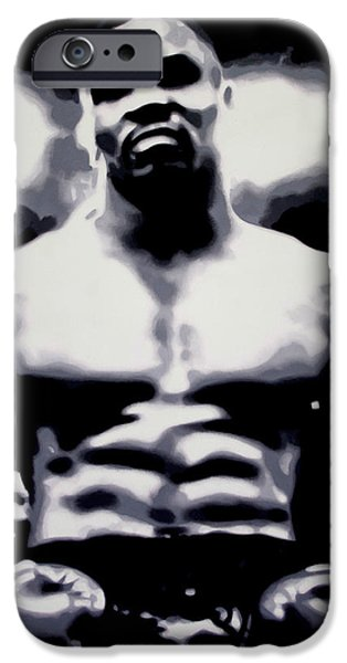 Mike Tyson IPhone Case by Luis Ludzska
