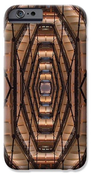 Milwaukee City Halll Atrium IPhone Case by Scott Norris