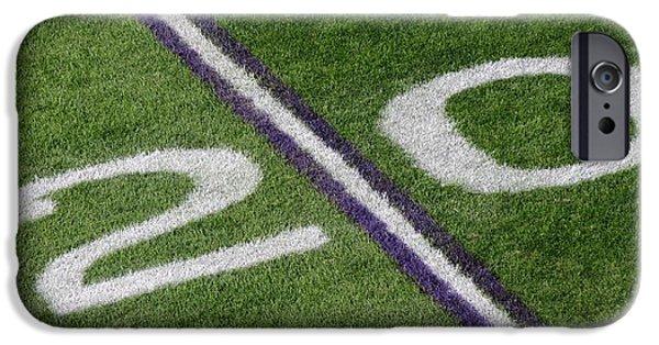 Minnesota Vikings 20 Yard Line IPhone Case by Kyle West