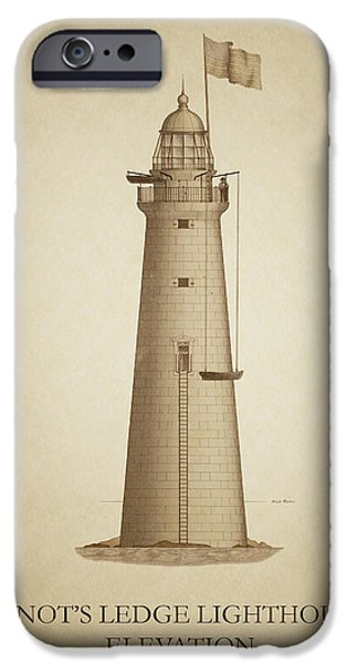 Minot's Ledge Lighthouse IPhone Case by Ambro Fine Art