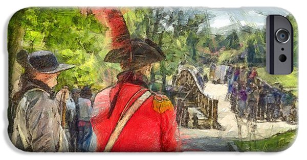 Minuteman And Redcoat Concord Ma Pencil IPhone Case by Edward Fielding