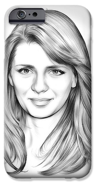 Mischa Barton IPhone Case by Greg Joens