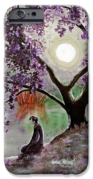 Misty Morning Meditation IPhone Case by Laura Iverson
