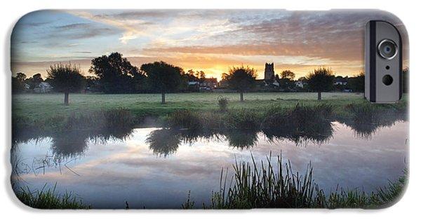 Misty Sunrise At Sudbury Water Meadows IPhone Case by Mark Sunderland
