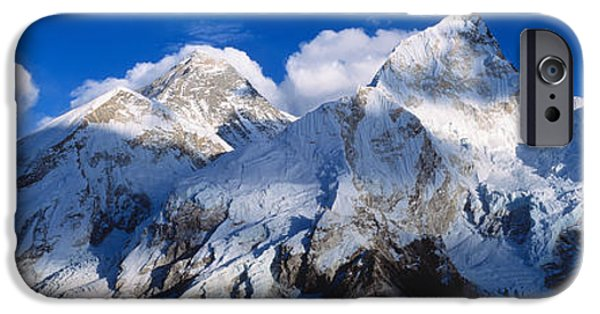 Mnts Everest & Nuptse Sagamartha IPhone Case by Panoramic Images