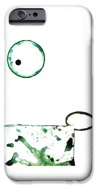 Modern Art - Balancing Act 1 - Sharon Cummings IPhone Case by Sharon Cummings