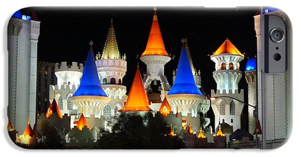 Modern Tale From Las Vegas, Excalibur IPhone Case by Timea Mazug