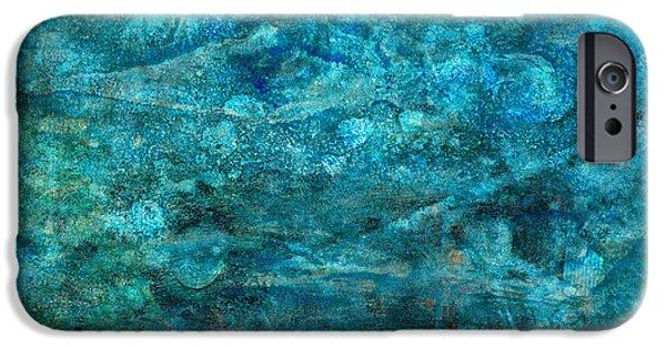 Modern Turquoise Art - Deep Mystery - Sharon Cummings IPhone Case by Sharon Cummings