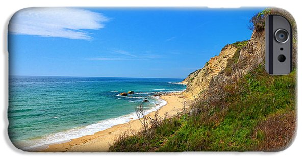 Mohegan Bluffs Block Island IPhone Case by Lourry Legarde