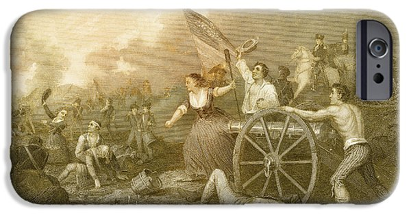 Molly Pitcher At The Battle Of Monmouth IPhone Case by Photo Researchers