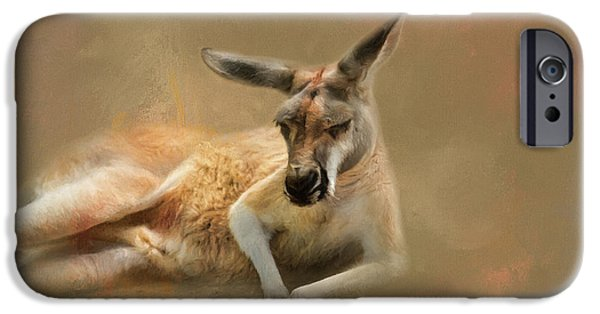 Monday Morning Drowsies Kangaroo Art IPhone 6s Case by Jai Johnson