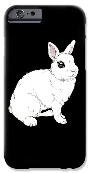 Monochrome Rabbit IPhone 6s Case by Katrina Davis