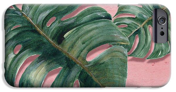 Monstera Leaf  IPhone Case by Mark Ashkenazi
