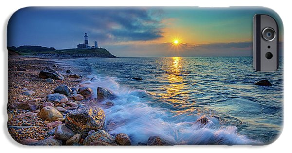 Montauk Sunrise IPhone Case by Rick Berk