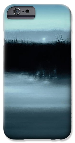 Moonrise On The Water IPhone Case by Scott Norris