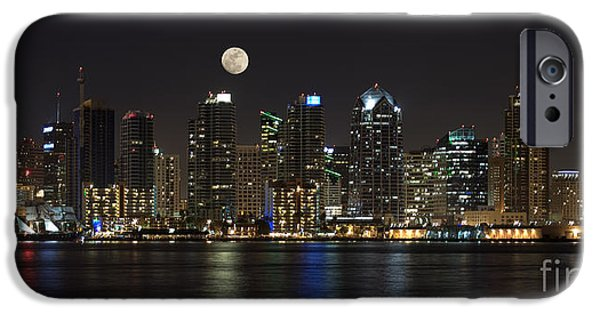 Moonrise Over San Diego IPhone Case by Sandra Bronstein