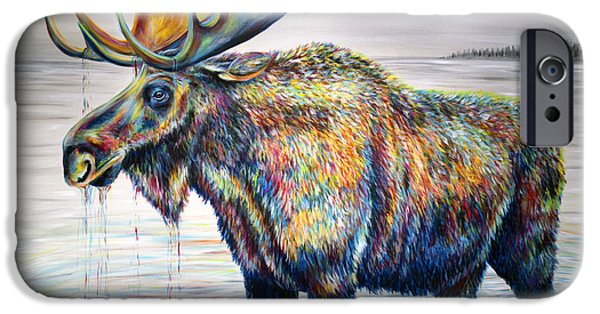 Moose Island IPhone Case by Teshia Art