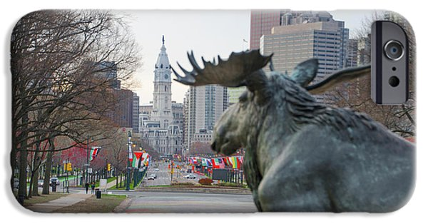 Moose On The Parkway - Philadelphia IPhone Case by Bill Cannon