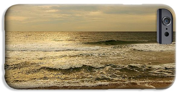Morning On The Beach - Jersey Shore IPhone Case by Angie Tirado