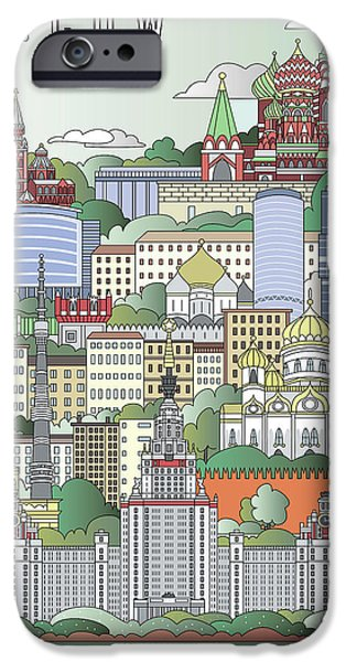 Moscow City Poster IPhone 6s Case by Pablo Romero