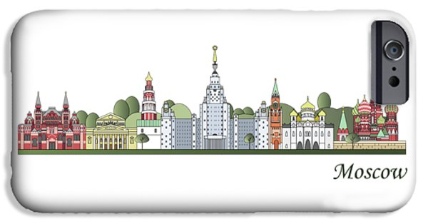Moscow Skyline Colored IPhone 6s Case by Pablo Romero