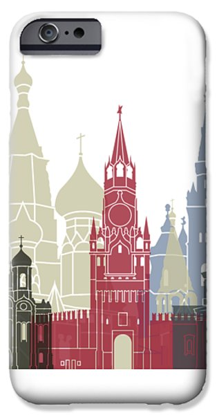 Moscow Skyline Poster IPhone 6s Case by Pablo Romero