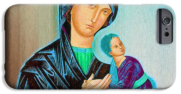 Mother Mary IPhone Case by Ericamaxine Price