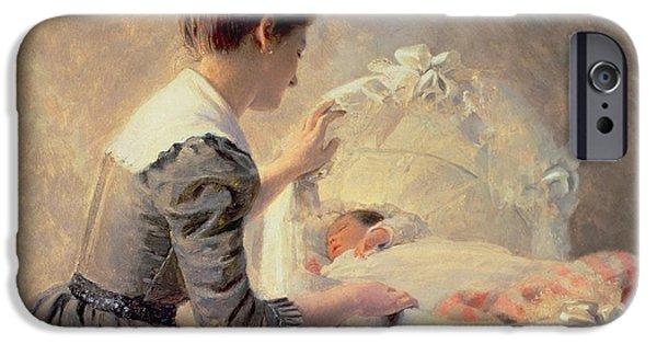 Motherhood IPhone Case by Louis Emile Adan