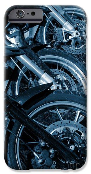 Motorbike Wheels IPhone Case by Carlos Caetano