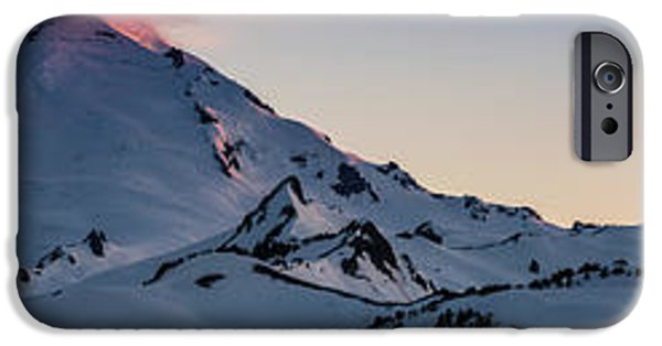 Mount Baker Dusk Panorama IPhone Case by Mike Reid