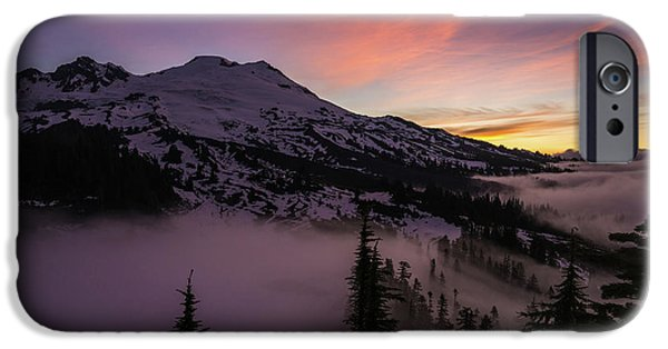 Mount Baker Sunrise Peaceful Morning IPhone Case by Mike Reid