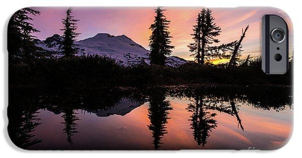 Mount Baker Sunrise Reflection IPhone Case by Mike Reid