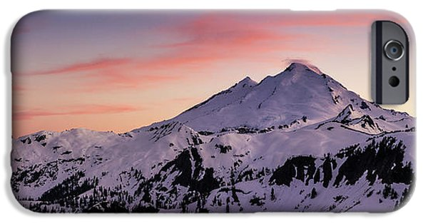 Mount Baker Sunset Panorama IPhone Case by Mike Reid