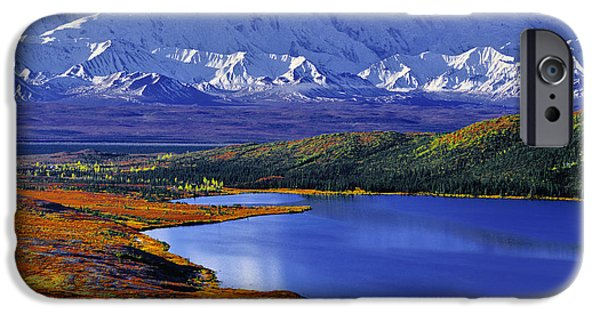 Mount Mckinley And Wonder Lake Campground In The Fall IPhone Case by Tim Rayburn