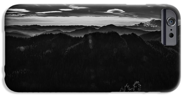 Mount Rainier With Rolling Hills IPhone Case by Pelo Blanco Photo