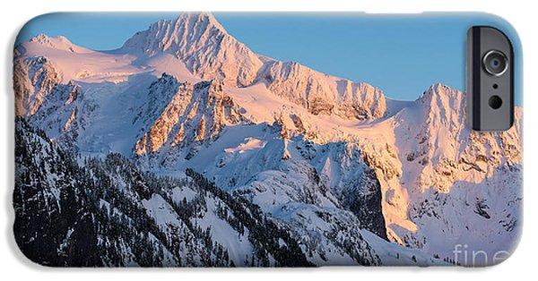 Mount Shuksan Alpenglow IPhone Case by Mike Reid