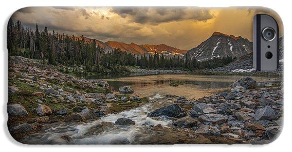 Mountain Glow IPhone Case by Leland D Howard