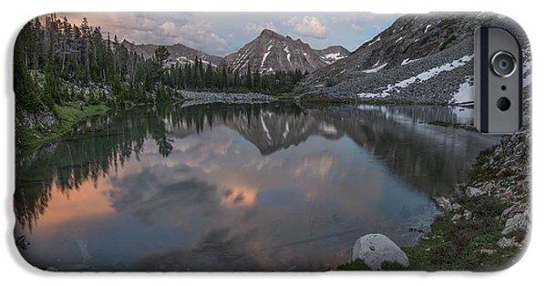Mountain Lake Sunset IPhone Case by Leland D Howard